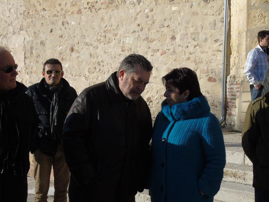 David Rubio en compañía de la alcaldesa de Segovia, Clara Luquero.